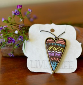 Live Bree Ceramic Jewelry Heart Necklace