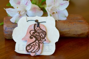 Live Bree Ceramic Jewelry Hamsa Necklace